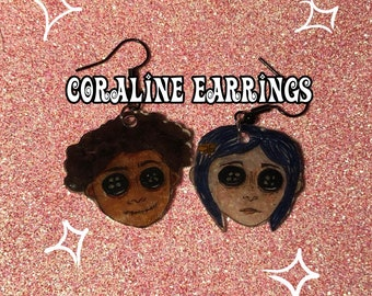 1 Coraline Button Eyes Pin Etsy