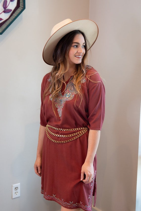 70s embroidered tunic