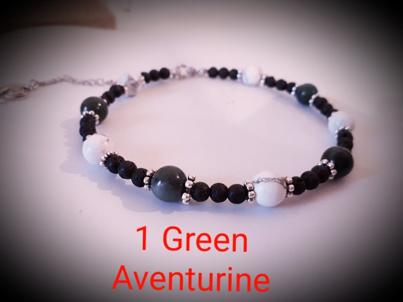 Natural Gemstone Beaded Anklets Summer Colours BFF Gift Hers and Hers