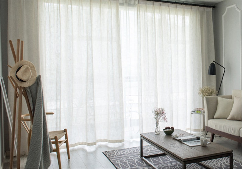 Thick Big Belly Yarns Nature White Plain Linen Sheer Lace Curtain Fabric,Linen Sheer Curtains White,Linen Sheers,Linen Sheer Fabric