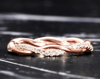 Technibond Rosette Eternity Band Ring 14K Yellow Gold Clad Silver 925