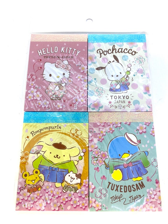 Sanrio Character Kitty My Melody Pompompurin Pochacco Memo Pad 100 MADE IN JAPAN