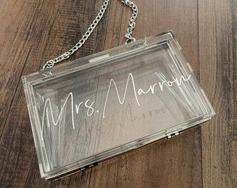 Custom Bride Purse - Fiance or Wife, Engagement Gift