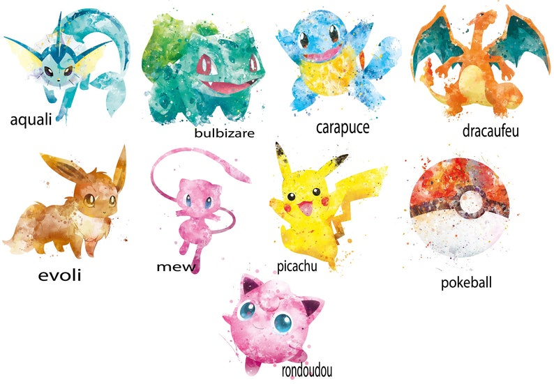 children/'s gift school gift back-to-school gift idea useful gift Pokemon collection Personalized soft bag