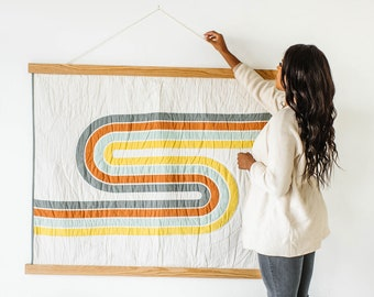 Baby Quilt Wall Hanger Frame - Turn Any Quilt or Blanket into a Wall Hanging