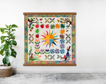 Wood Quilt Wall Hanger Frames - How to hang a quilt on the wall!