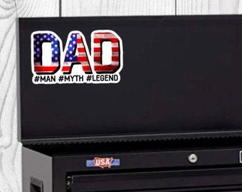 American Dad Sticker, Father's Day Sticker, Vinyl Die Cut Sticker, Weatherproof Sticker, Perfect for laptops, tumblers, etc