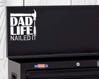 Dad Life Vinyl Decal, Father's Day Decal, Decal for car windows, bumper stickers, phone cases, laptops, tumblers, and more!