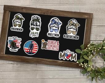 "Military Stickers, Military Collection, Vinyl Die Cut Sticker, Weatherproof Sticker, 3"" Sticker, Army, Navy, Airforce, Marines, US Troops"