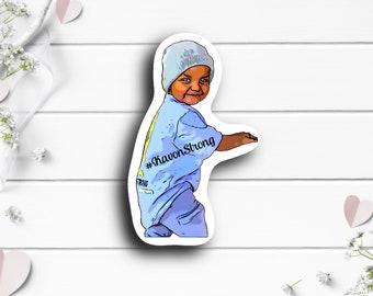 Kavon Sticker, @kavonstrong on TikTok,ATRT Brain Cancer Fighter, Tiny Warrior, Go Fund Me Donation