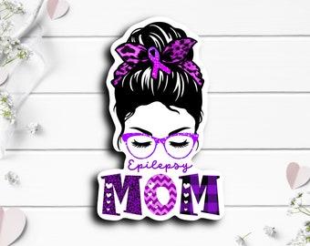 Epilepsy Sticker, Epilepsy Mom, Vinyl Die Cut Sticker, Weatherproof Sticker, Use on laptops, tumblers, and planners