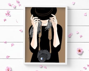Photographer Art Print, Positive and Inspiring Wall Art, Decor for Home or Office, Bedroom Art, Glamour and Fashion Print