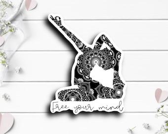 Mental Health Stickers, Free Your Mind Sticker, Waterproof Vinyl Die Cut Sticker, Planner, Journal, Inspirational Stickers
