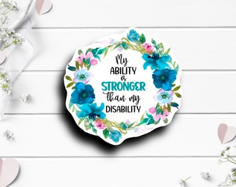 Disability Sticker, Disability Awareness Sticker, Vinyl Die Cut Sticker, Waterproof Stickers, International Day of Disabled Persons