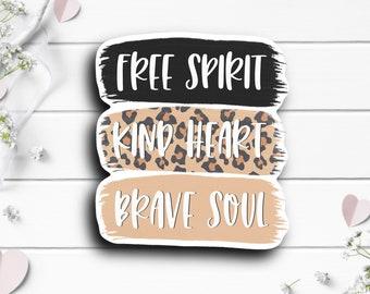 Free Spirit Sticker, Vinyl Die Cut Sticker, Weatherproof Sticker
