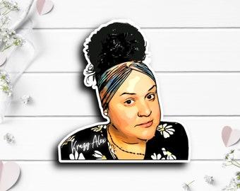 Krazy Alex Sticker, @krazyzlex on TikTok, TikTok stickers, Waterproof stickers