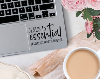Vinyl Decal, Jesus is Essential Decal, Christian Faith Decal, Vinyl Decals for indoor or outdoor application
