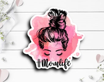 Mother's Day Sticker, Mom Life, Vinyl Die Cut Sticker, Weatherproof Sticker, Perfect for laptops, tumblers, and planners