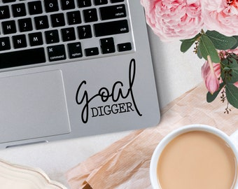 Vinyl Decal, Goal Digger Vinyl Decal, Small Business Decal, Decal for car windows, bumper stickers, phone cases, laptops, tumblers, etc