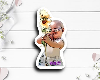Violet Fights Cancer Sticker, @violetfightscancer on TikTok, B-Cell Acute Lymphoblastic Leukemia fighter, Tiny Warrior, Go Fund Me Donation