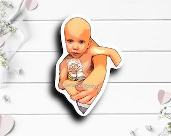 Kenson Sticker, @kensonstrong on TikTok, Cancer fighter, Tiny Warrior, Liver Cancer awareness, Childhood Cancer Awareness