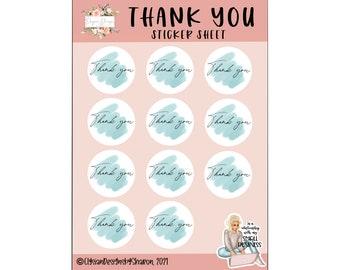 Small Business Stickers, Mint Thank You, Packaging Stickers, Vinyl Die Cut Sticker, WeatherproofSticker