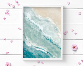 Art Prints, Ocean 1 Art Print, Positive and Inspiring Wall Art, Decor for Home or Office, Bedroom Art, Glamour and Fashion Print