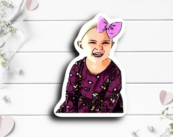 Jocelyn Sticker, @team_jocelyn on TikTok, Waterproof Die Cut Stickers perfect for laptops, planners, tumblers, water bottles, etc.