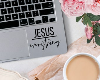 Vinyl Decal, Jesus Over Everything Vinyl Decal, Small Business Decal, Decal for car windows, bumper stickers, phone cases, laptops, tumblers