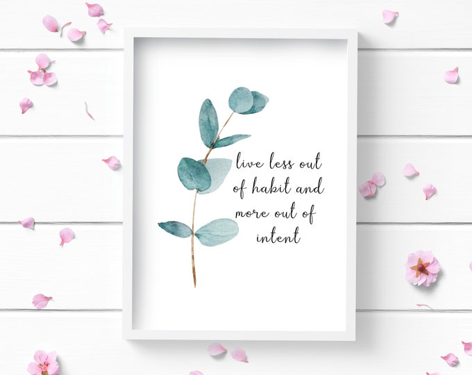 Featured listing image: Eucalyptus Art Print, Positive and Inspiring Wall Art, Decor for Home or Office, Bedroom Art, Glamour and Fashion Print