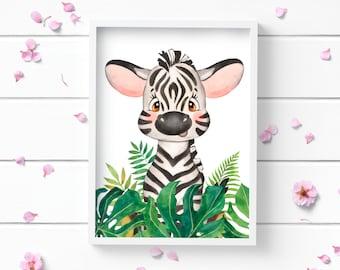 Art Prints, Zebra Print, Art Print, Nursery Decor, Positive and Inspiring Wall Art, Decor for Home or Office, Glamour and Fashion Print