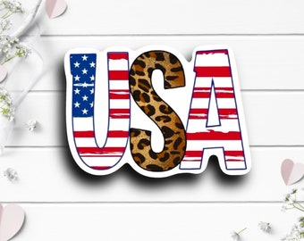 Patriotic Stickers, USA Sticker, Vinyl Die Cut Sticker, Weatherproof Sticker, Patriotic Sticker, Military Sticker