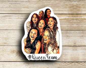 The Queen Team Stickers, TikTok stickers, Waterproof, Purchase individually or as a set, Donations being made to charity