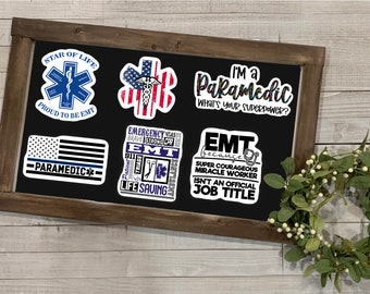 Paramedic Stickers, Paramedic Collection, First Responders, Mature Content, Weather Resistant Sticker, Gift for Her, Stickers
