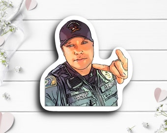 Officer Kingery Sticker, @therealkingery on TikTok, Waterproof Die Cut Stickers perfect for laptops, planners, tumblers, or water bottles
