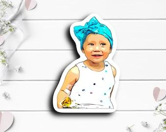 Emory Sticker, @ashleyshockharris on TikTok, Tiny Warrior, Infantile Glioma Glioblastoma Brain Tumor,