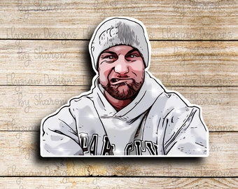 Steve Bourdo Sticker, TikTok Artist, Waterproof Die Cut Stickers are perfect for laptops, planners, tumblers, or water bottles