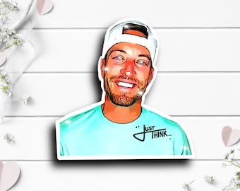JT Laybourne Sticker, JT Laybourne on TikTok, Waterproof Die Cut Stickers perfect for laptops, planners, tumblers, water bottles, etc.