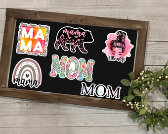 Mother's Day Sticker, Mother's Day Collection, Vinyl Die Cut Sticker, Weatherproof Sticker, Perfect for laptops, tumblers, and planners