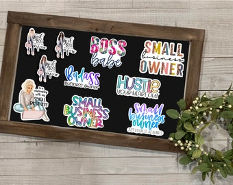 Small Business Stickers, Small Business Collection, Gift for Business Owners, Vinyl Die Cut Sticker, Weather Resistant Sticker