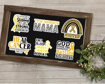 Childhood Cancer Awareness, Childhood Cancer Collection 2, Vinyl Die Cut Sticker, Weather Resistant Sticker, Gift for Her, Stickers