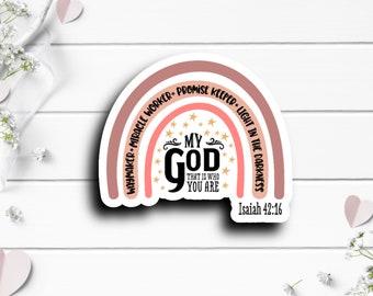 Faith Stickers, Waymaker Sticker, Faith Sticker, Vinyl Die Cut Sticker, Mental Health Matters, Encouragement and Motivational Sticker