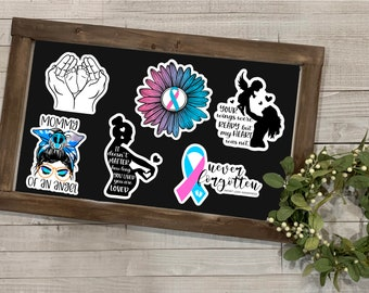 Pregnancy Loss Stickers, Infant Loss Stickers, Pregnancy & Infant Loss Awareness Collection, Vinyl Die Cut Sticker, Weatherproof Sticker