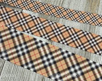 "Soft Focus School Girl Diagonal Stripe Printed Grosgrain Ribbon -  5/8"" - 7/8"" - 1"" - 1.5"" - Sewing - Craft - Decor - Bow - Wreath - Party"