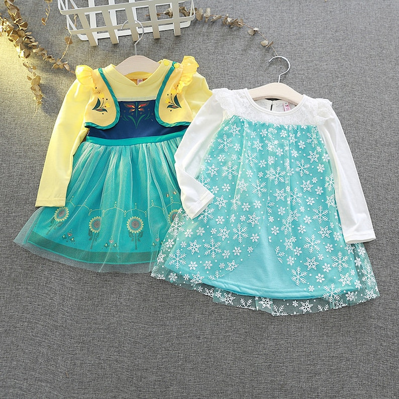 Disney Frozen Inspired Dress, Girls Frozen Costume