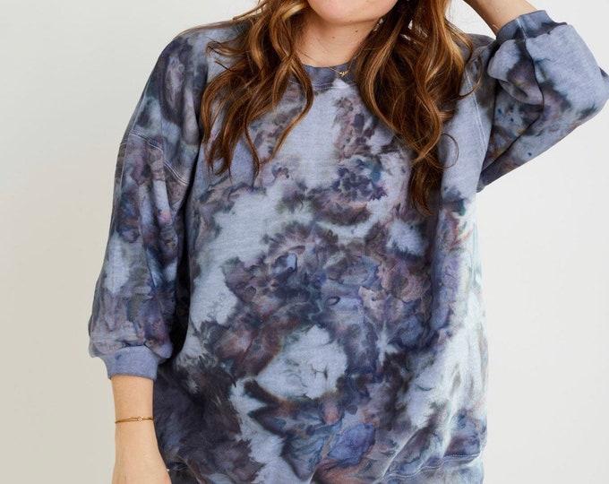 Featured listing image: Stone Cut Crewneck x NIGHT / Hand Dyed / Sweatshirt