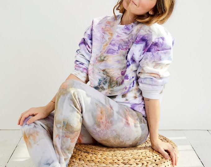Featured listing image: Wild Lavender Hand Dyed Ice Dye Tie Dye Sweatshirt