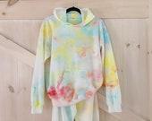 Rainbow Sherbet Tie Dye Ice Dye Hoodie Sweatshirt