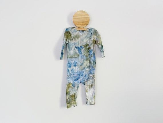 Green Mountain Romper / 18 Months /  Baby Long Sleeve Tie Dye