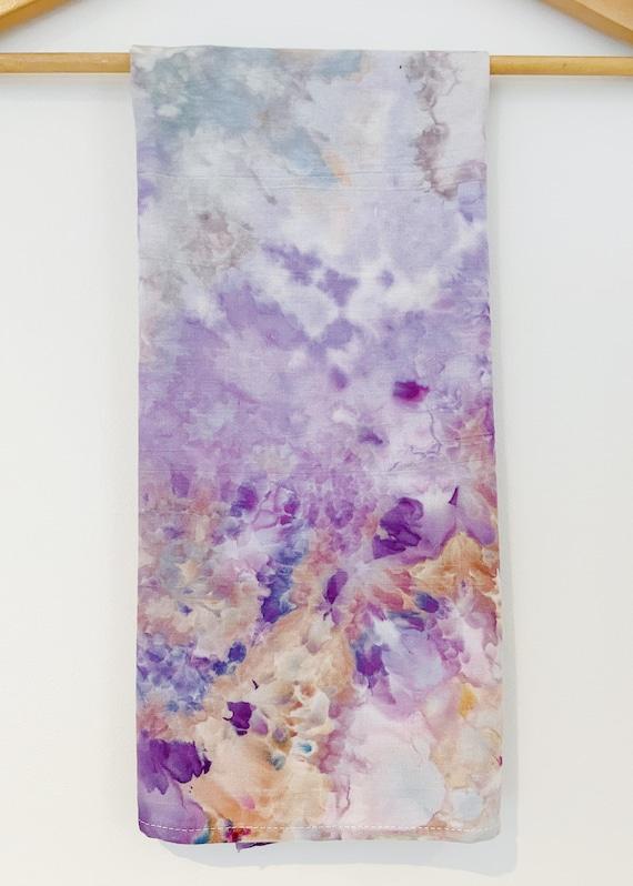 100% Cotton Wild Lavender Ice Dye Tie Dye Hand Dyed Dish Towel / Bread Towel / Tea Towel